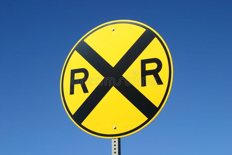 Sinal da estrada de ferro fotografia de stock royalty free