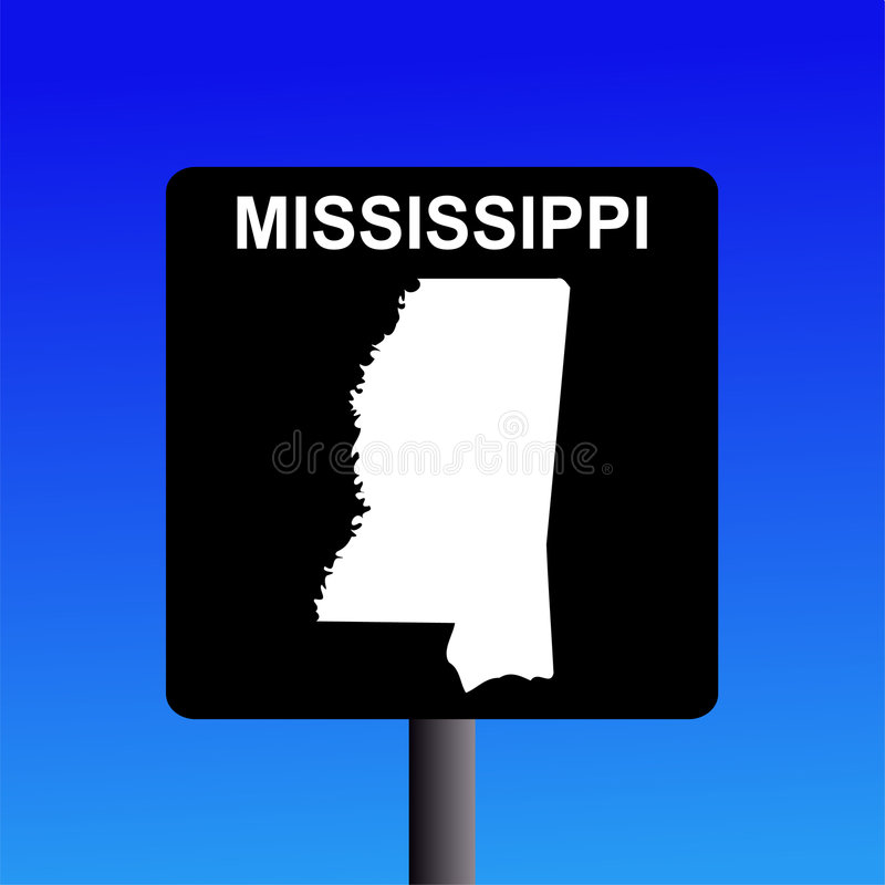 Sinal da estrada de Mississippi ilustração do vetor