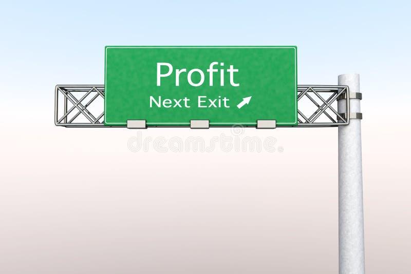 Sinal da estrada - lucro ilustração do vetor