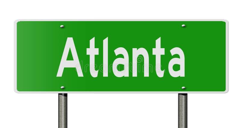 Sinal da estrada para Atlanta ilustração do vetor