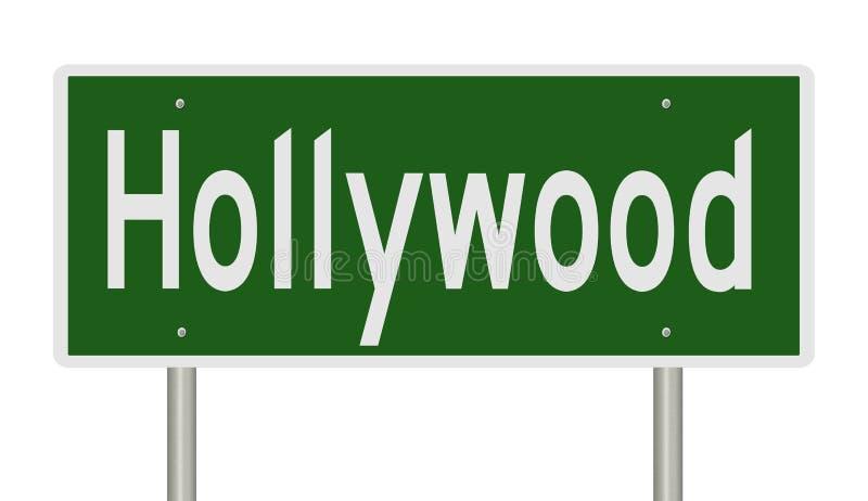 Sinal da estrada para Hollywood Califórnia ilustração royalty free