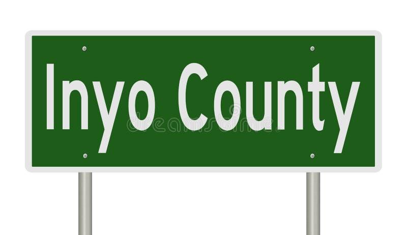 Sinal da estrada para Inyo County Califórnia ilustração stock