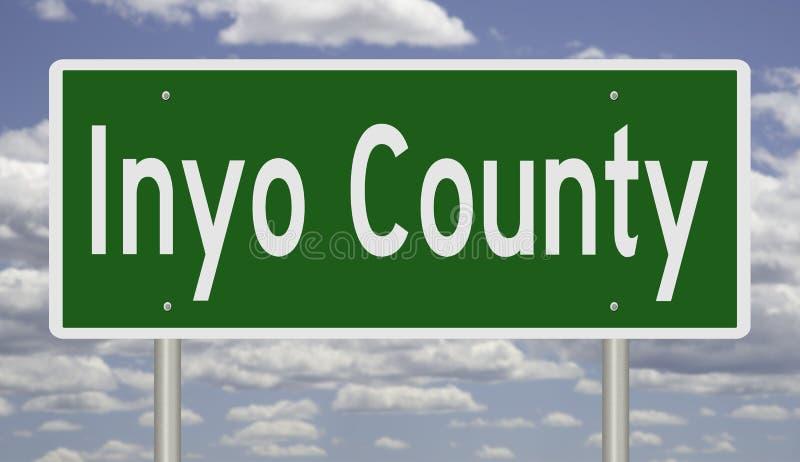 Sinal da estrada para Inyo Couty Califórnia ilustração stock