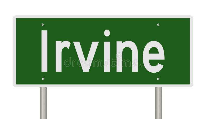 Sinal da estrada para Irvine California ilustração do vetor