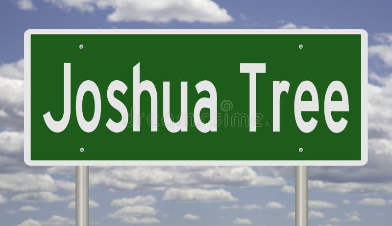 Sinal da estrada para Joshua Tree California ilustração royalty free