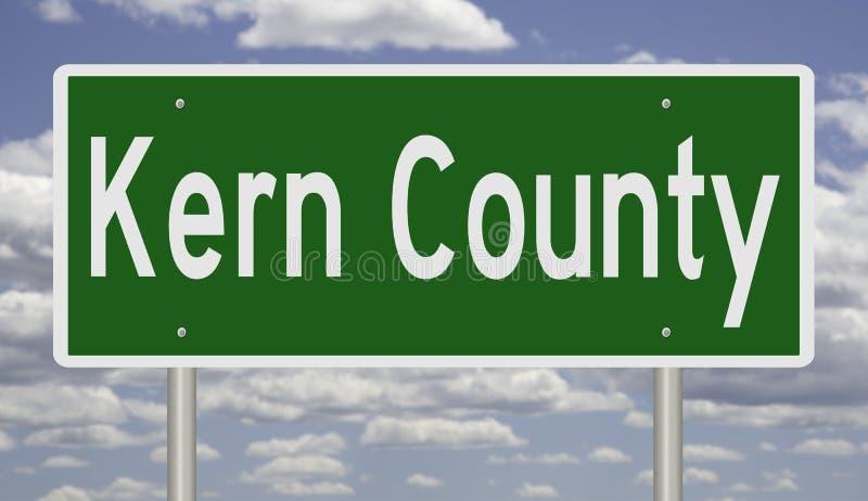 Sinal da estrada para Kern County California ilustração do vetor