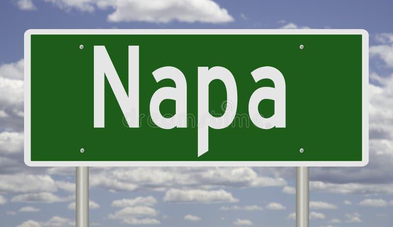 Sinal da estrada para Napa Califórnia ilustração royalty free