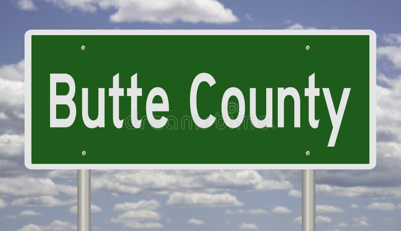 Sinal da estrada para o Condado de Butte ilustração do vetor