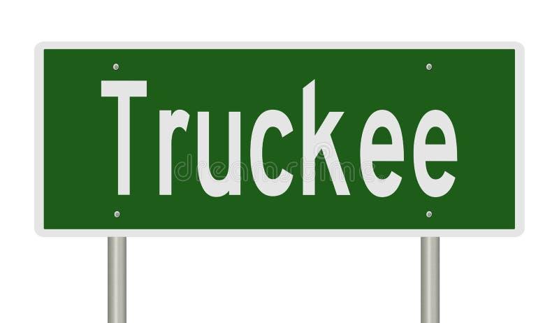 Sinal da estrada para Truckee Califórnia ilustração royalty free