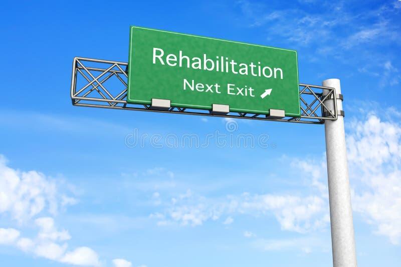 Sinal da estrada - reabilitação ilustração royalty free