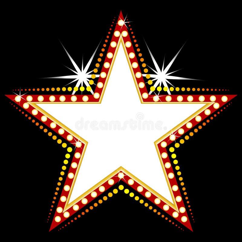 Sinal da estrela ilustração stock
