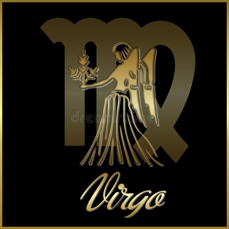 Sinal da estrela do zodíaco do Virgo ilustração do vetor