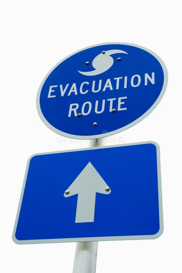 Sinal da evacuação do furacão fotos de stock royalty free