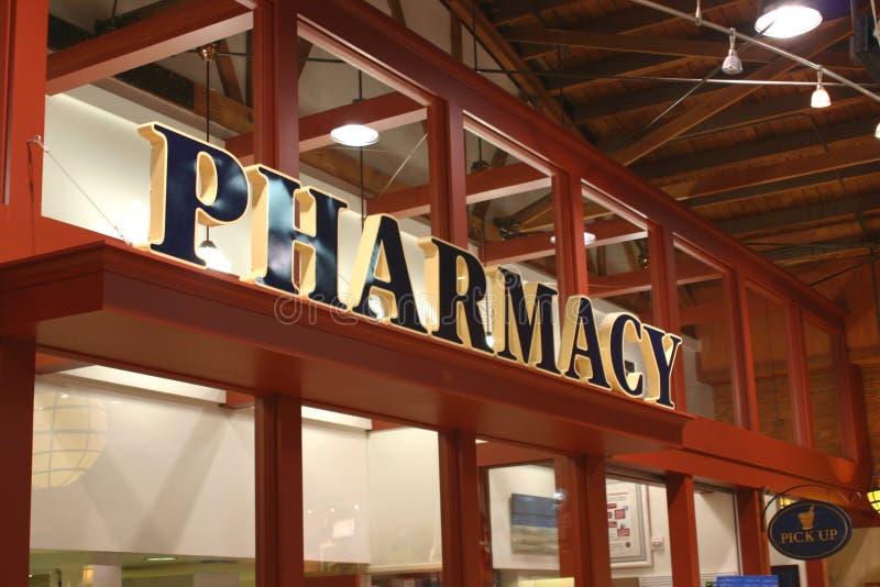 Sinal da farmácia fotos de stock