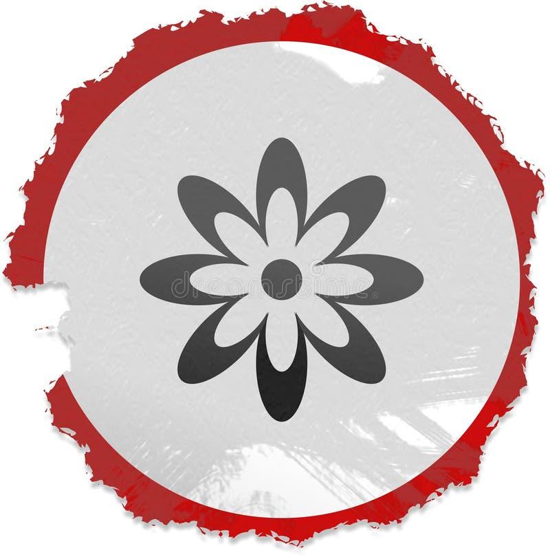 Sinal da flor de Grunge ilustração stock