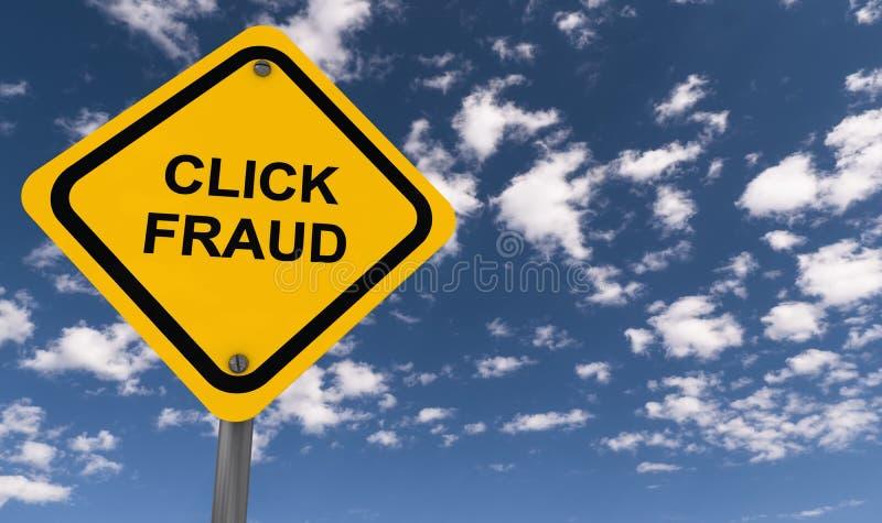 Sinal da fraude do clique ilustração stock