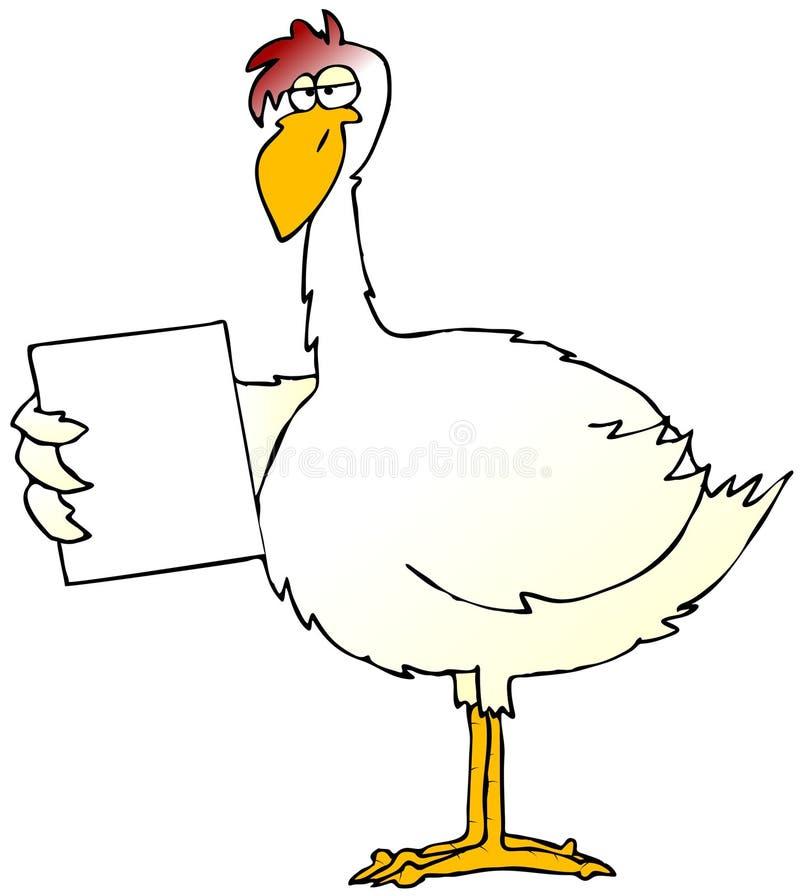Sinal da galinha ilustração do vetor