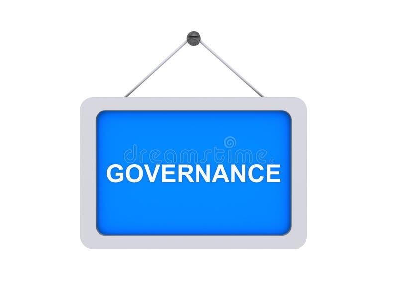 Sinal da governança imagem de stock