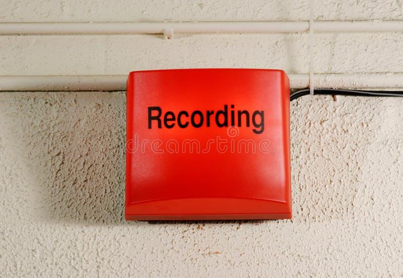 Sinal da gravação do estúdio imagem de stock royalty free
