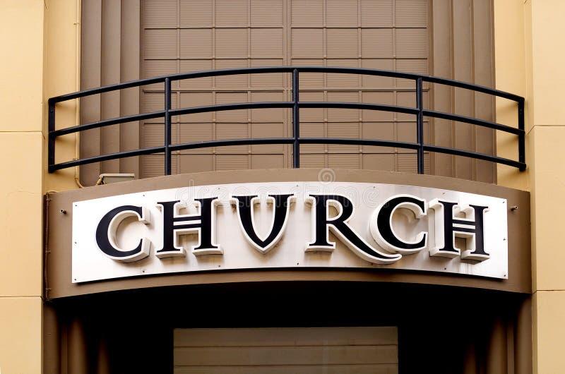 Sinal da igreja fotografia de stock