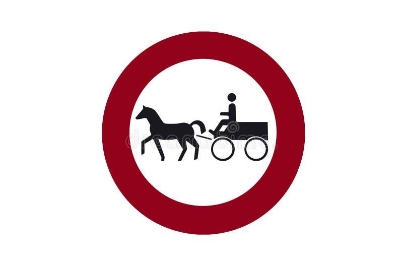 Sinal da ilustração permitindo o movimento dos carros com cavalos ilustração royalty free