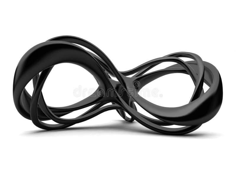sinal da infinidade 3d ilustração stock