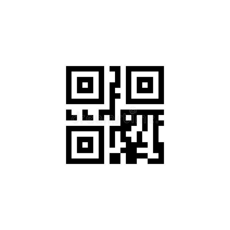 Sinal da informação de Digitas Ilustração do ícone do código de QR ilustração stock