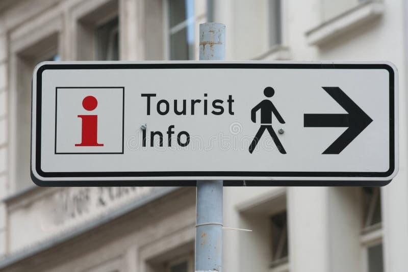 Sinal da informação de turista imagem de stock