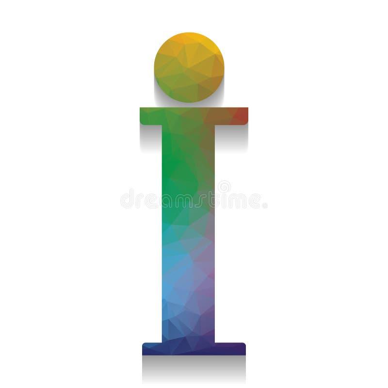 Sinal da informação Vetor Ícone colorido com textura brilhante do mosaico w ilustração stock