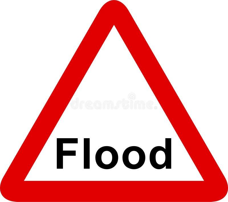 Sinal da inundação ilustração stock