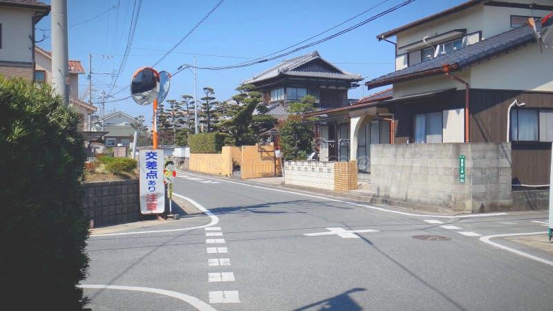 sinal da junção e de rua foto de stock