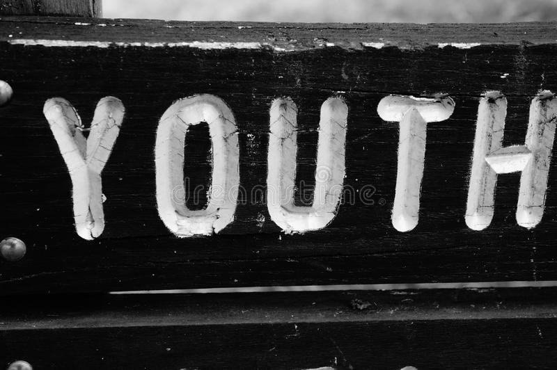 Sinal da juventude imagem de stock
