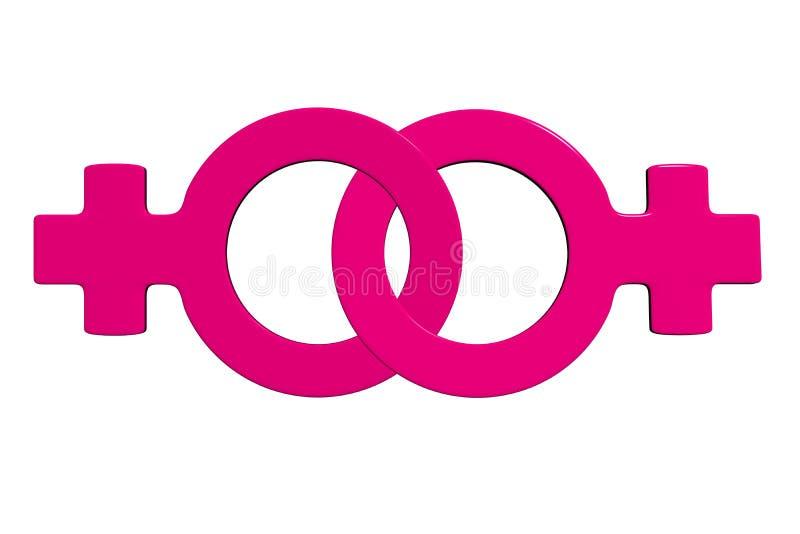 sinal da lésbica 3d ilustração royalty free