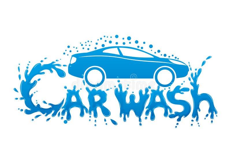 Sinal da lavagem de carros ilustração royalty free