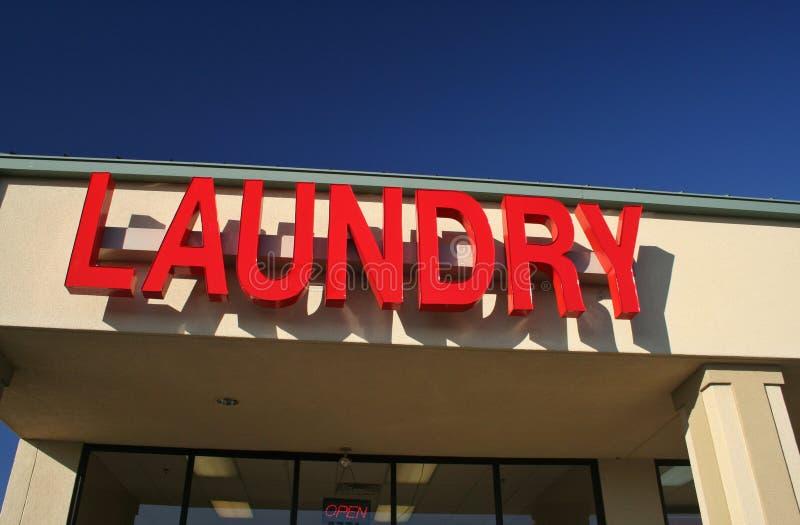 Sinal da lavanderia fotografia de stock royalty free