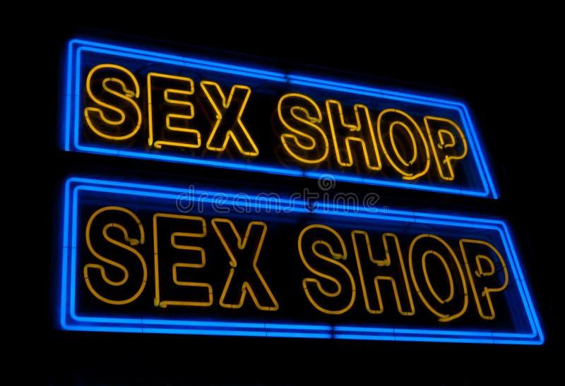 Sinal da loja do sexo imagens de stock