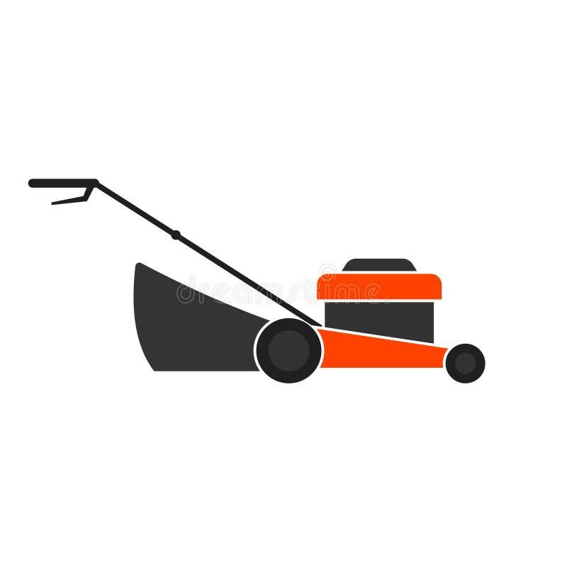 Sinal da máquina do cortador de grama ilustração stock