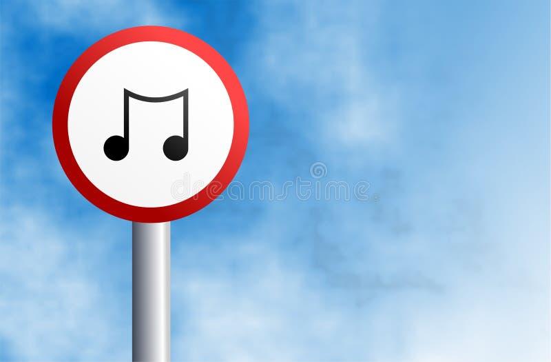 Sinal da música ilustração do vetor