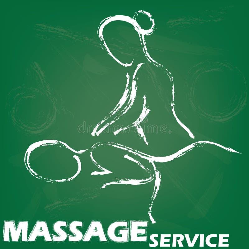 Sinal da massagem ilustração stock
