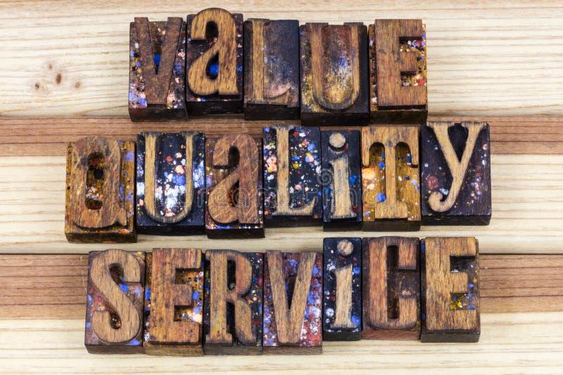 Sinal da missão de empresa de serviços da qualidade do valor imagem de stock royalty free