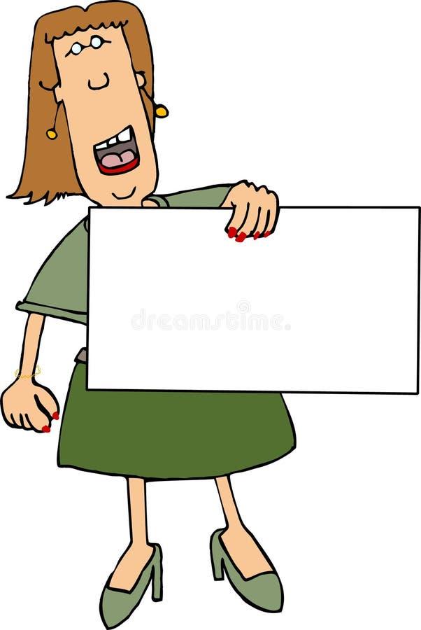Sinal da mulher ilustração royalty free