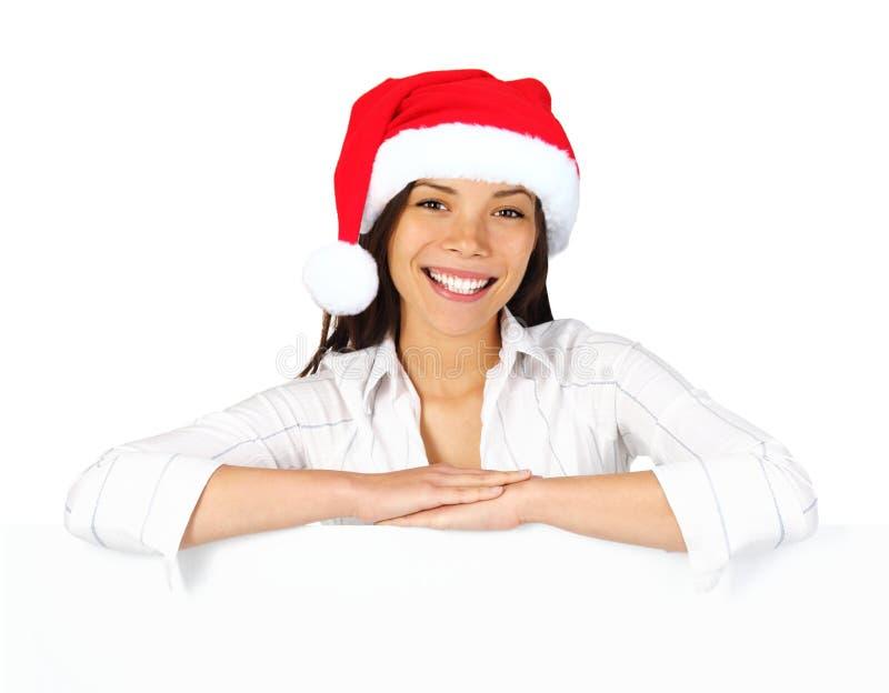 Sinal da mulher do Natal imagens de stock royalty free