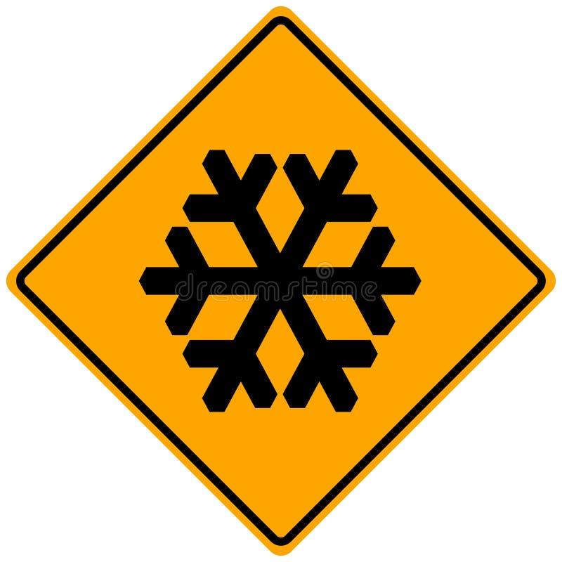 Sinal da neve ilustração stock