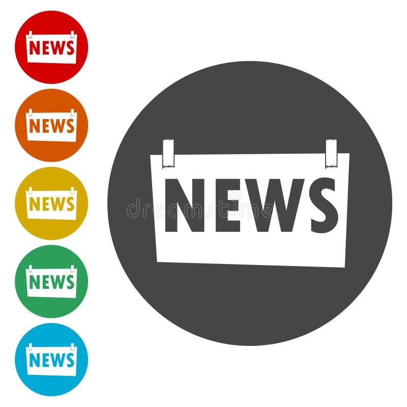 Sinal da notícia - ilustração ilustração do vetor