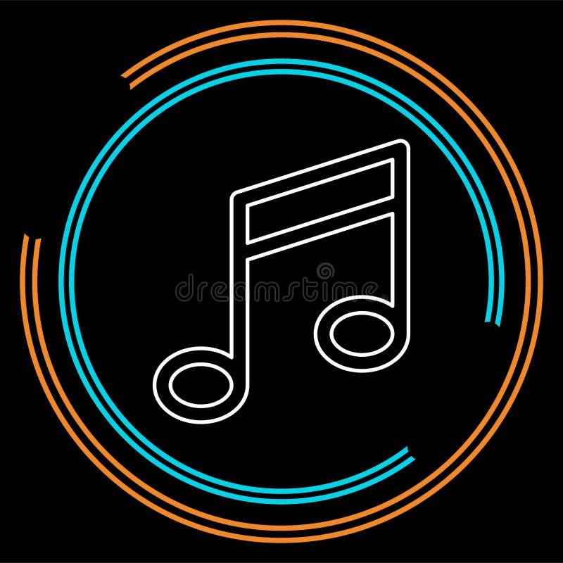 Sinal da nota da música do vetor - sinal musical do símbolo ilustração do vetor