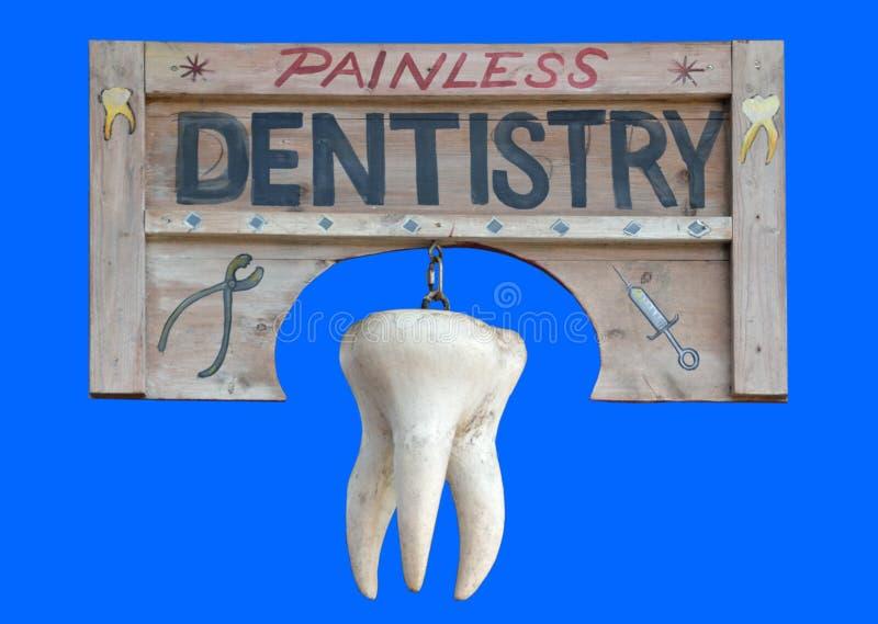 Sinal da odontologia indolor foto de stock