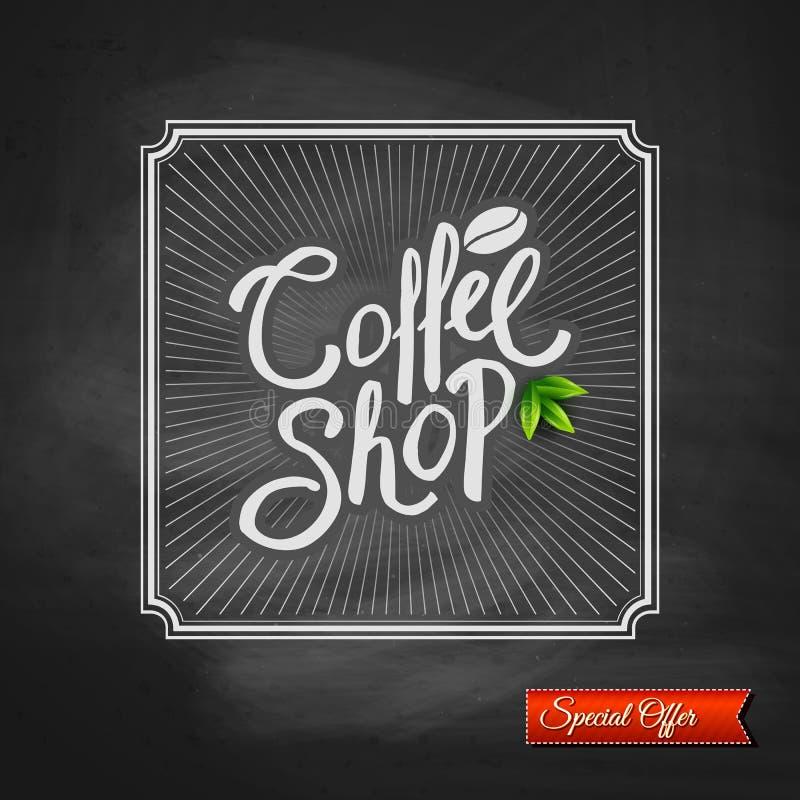 Sinal da oferta especial da casa do café ilustração stock