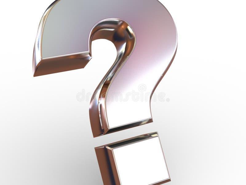 Sinal da pergunta. ilustração stock