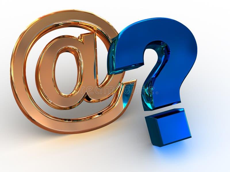 Sinal da pergunta. ilustração royalty free