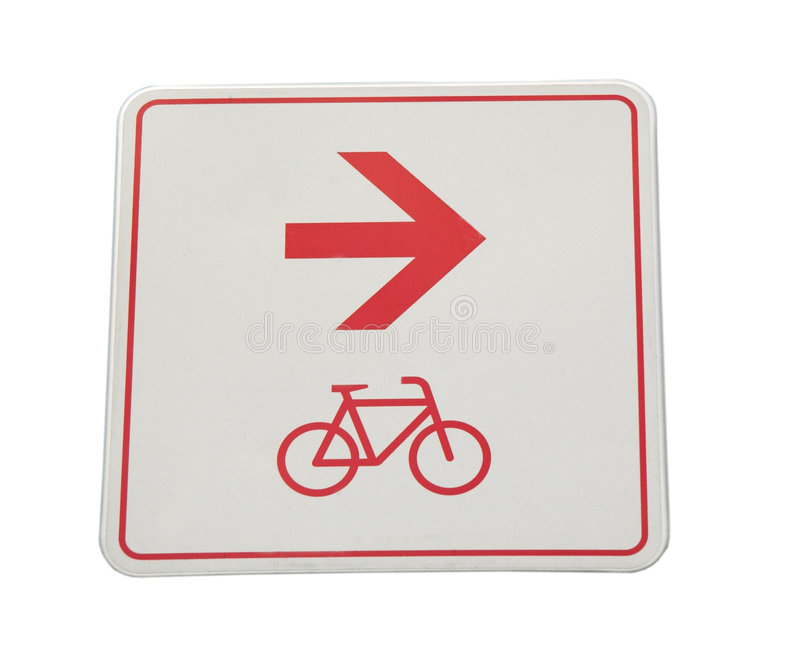 Sinal da pista de bicicleta imagens de stock royalty free